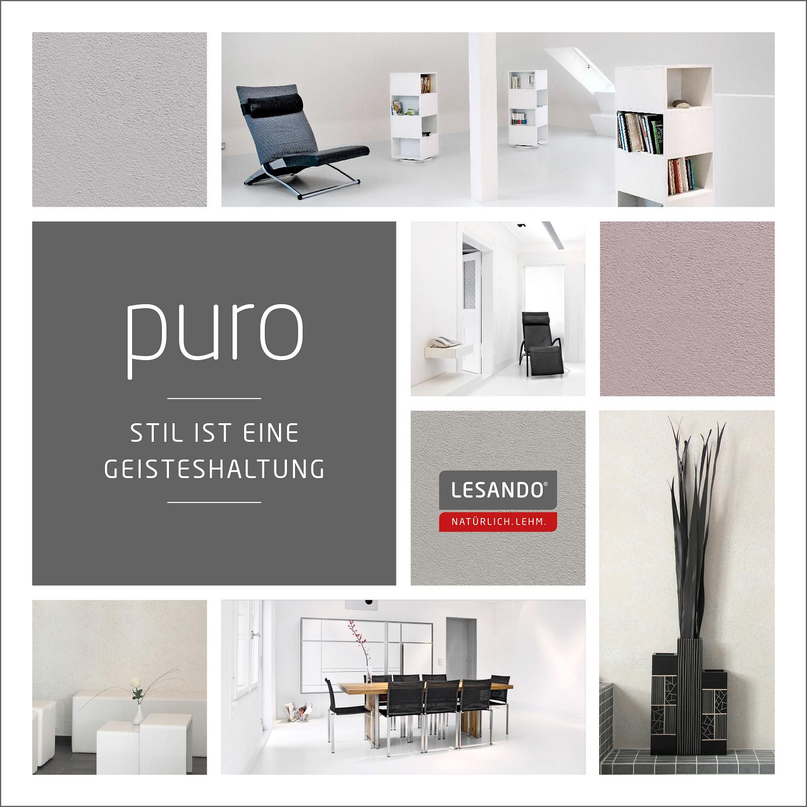farbiger lehmputz capriccio von lesando kologischer dekorputz. Black Bedroom Furniture Sets. Home Design Ideas