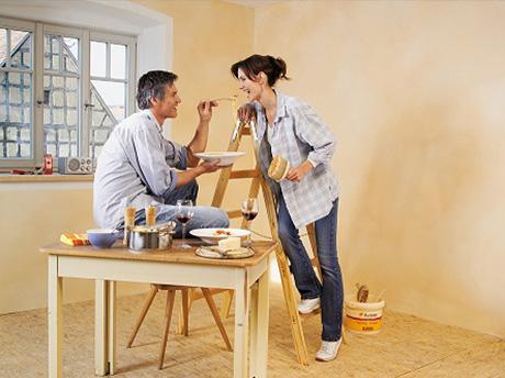 farbigen lehmputz und lehmfarbe im onlineshop kaufen lehm in farbe. Black Bedroom Furniture Sets. Home Design Ideas