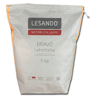 Lehmfarbe BRAVO der Firma Lesando
